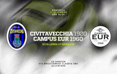 Domenica 11 Novembre: Civitavecchia 1920 – Campus Eur 1960
