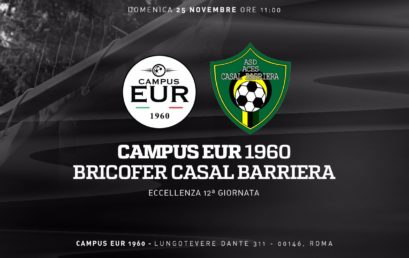 Domenica 25 Novembre: Campus Eur 1960 – Bricofer Casal Barriera