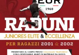 Raduni Categorie Juniores Elite & Eccellenza