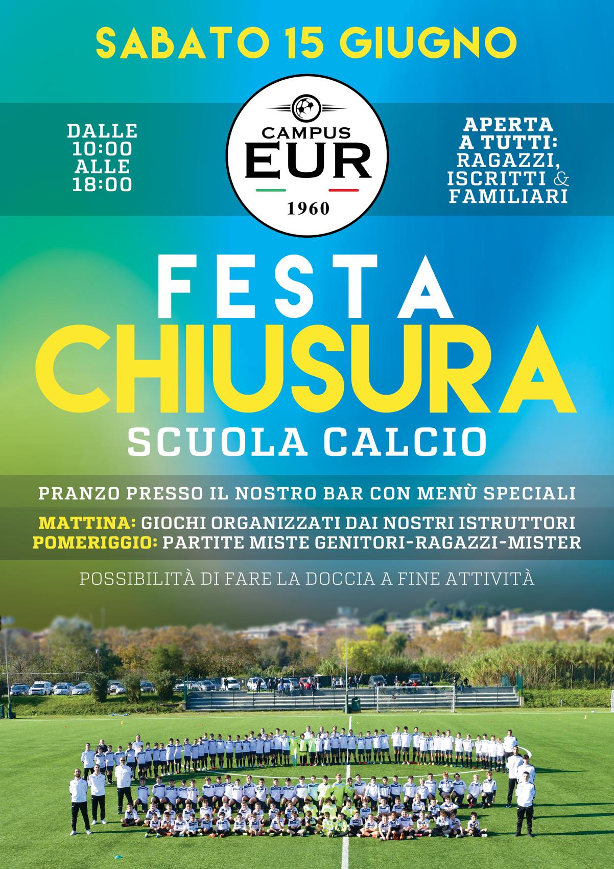 Festa Chiusura Scuola Calcio