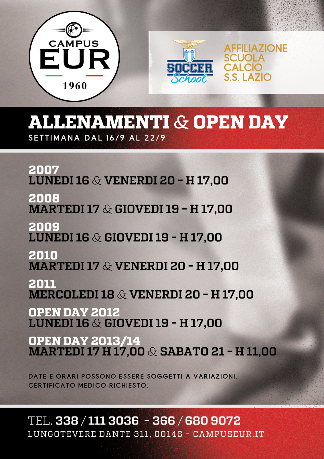 Allenamenti & Open Day